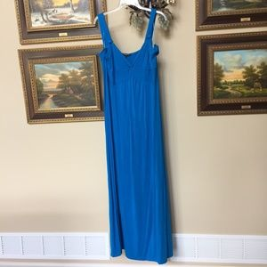 Cable & Guage Woman Turquoise Maxi Dress 2X